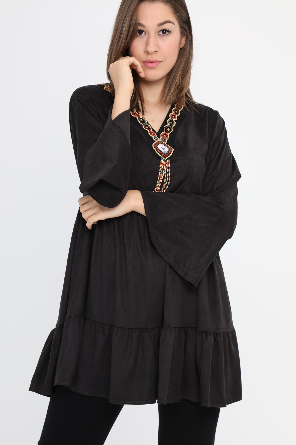 tunica negra tallas grandes
