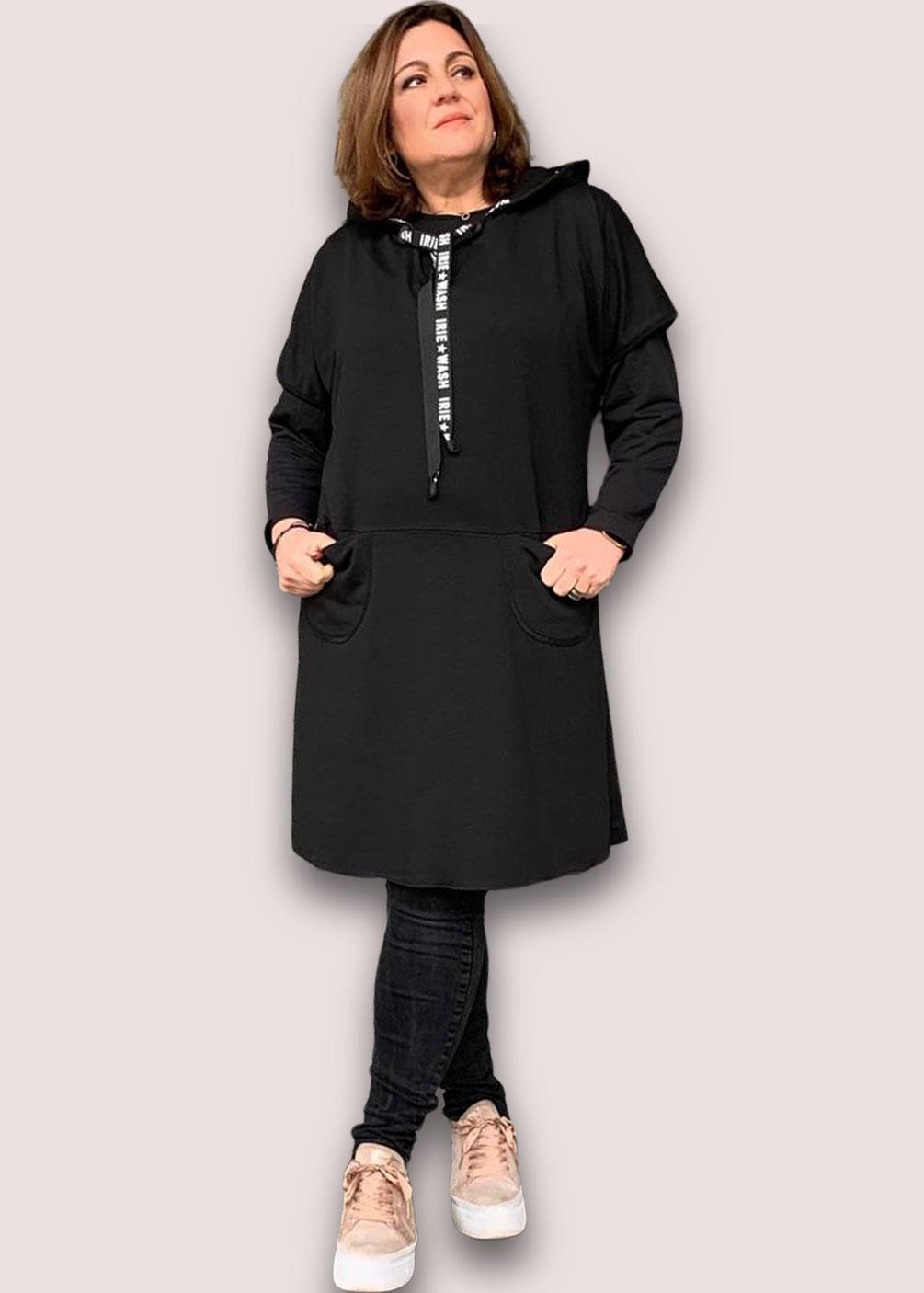 vestido tallas grandes tipo sudadera pichi indra