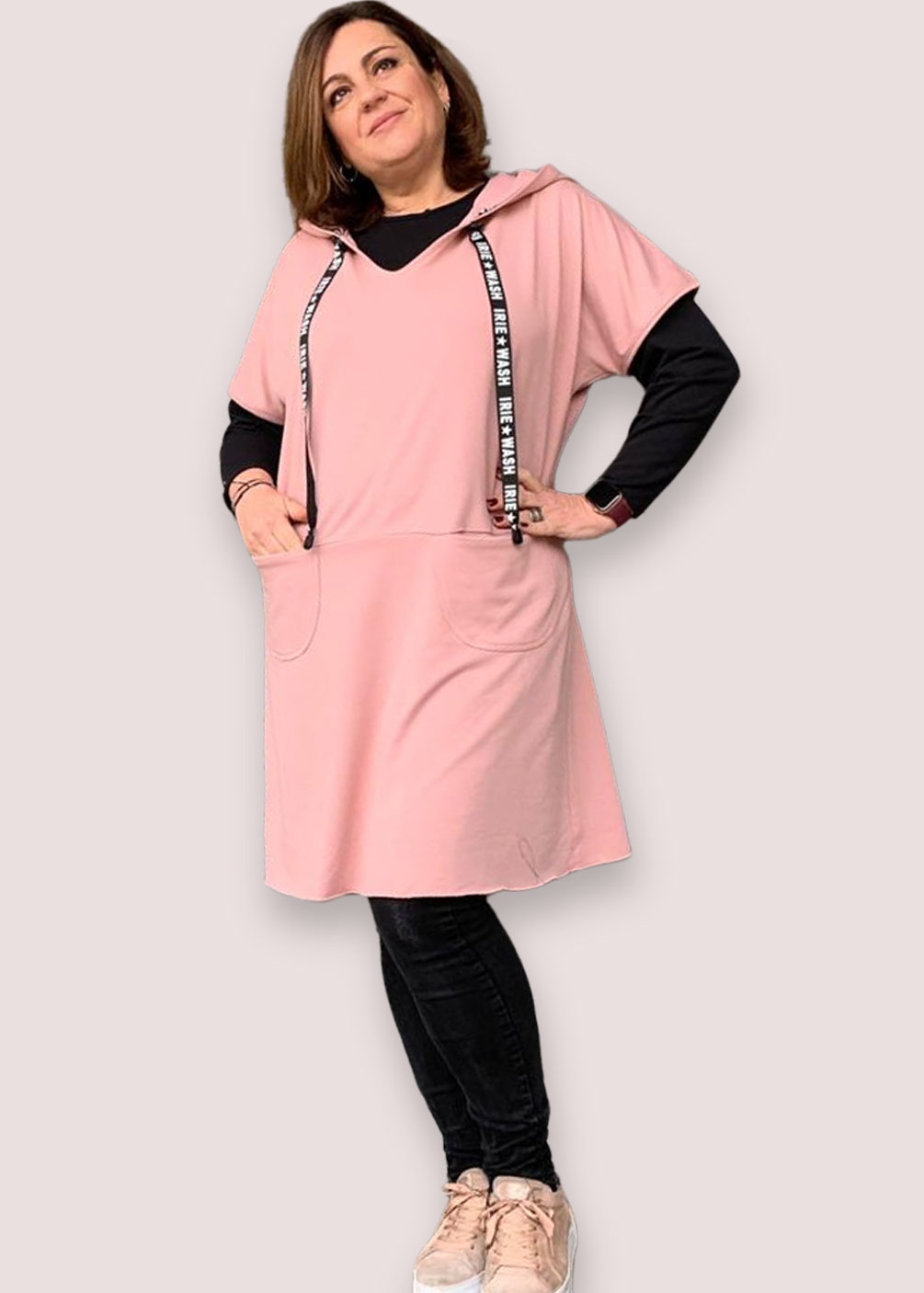 vestido tipo sudadera tallas grandes marca indra