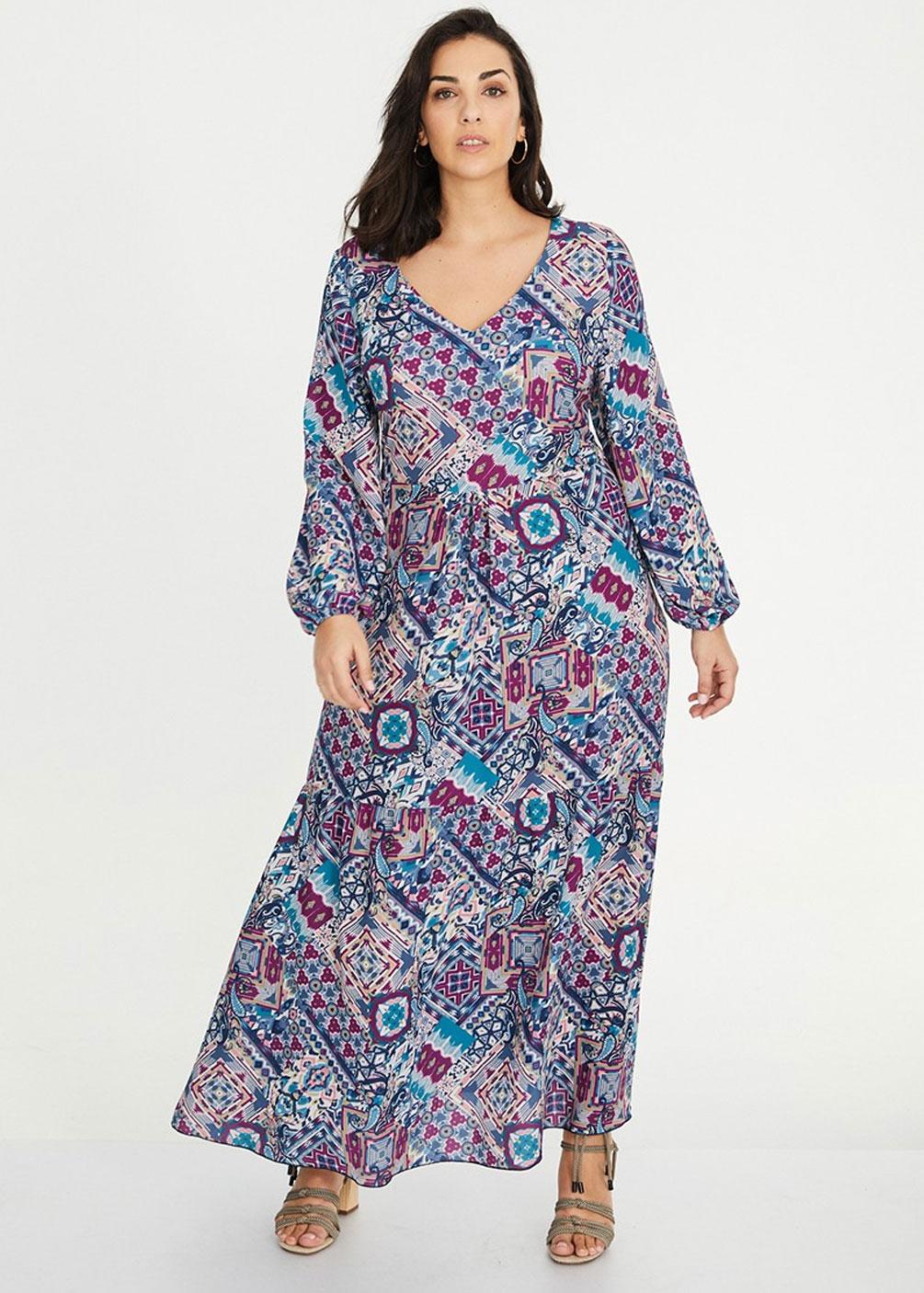 vestido largo tallas grandes plus size