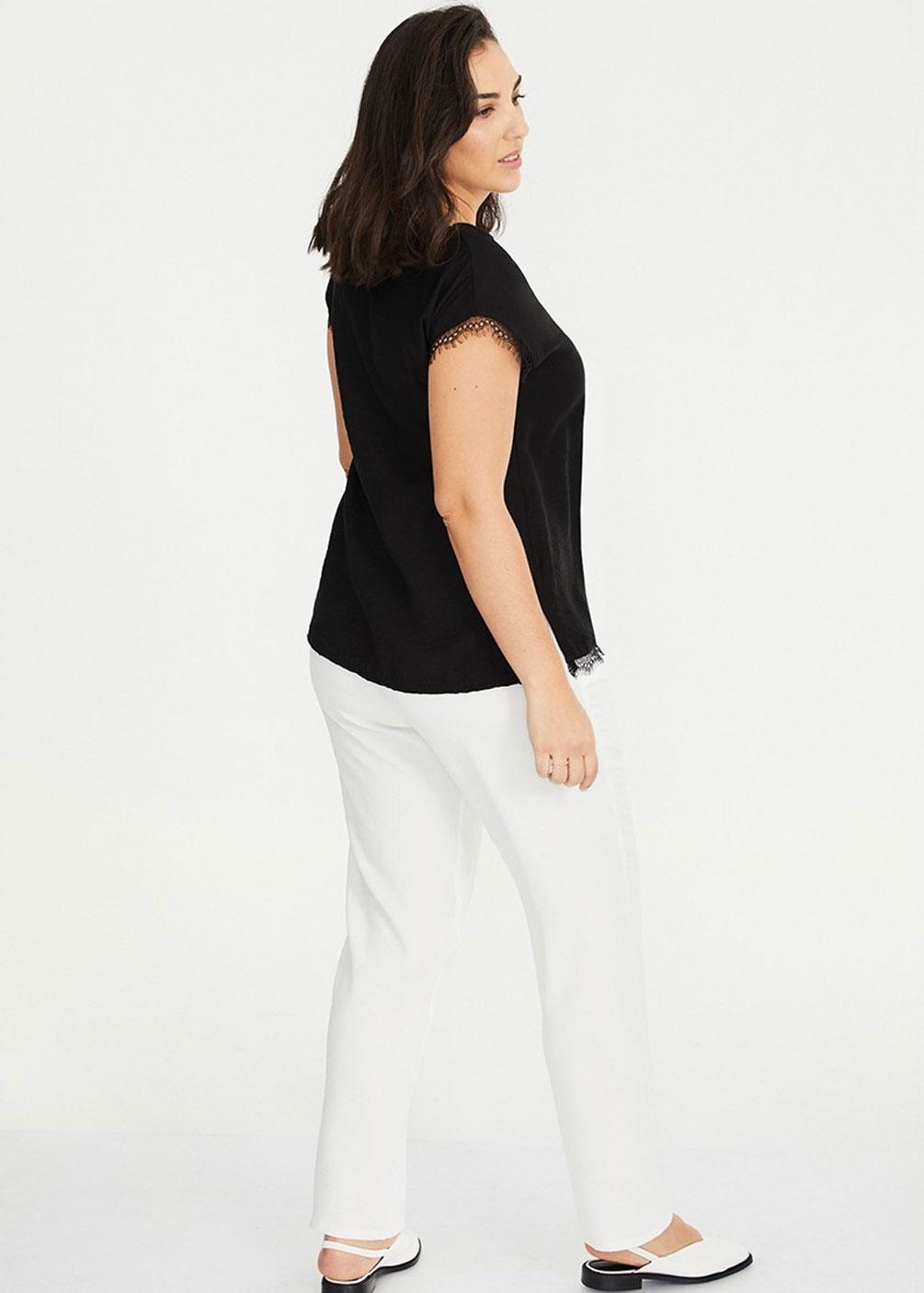 camiseta puntilla tallas grandes