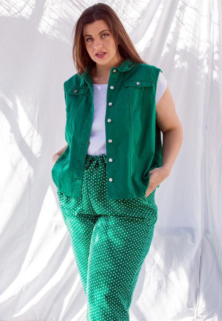chaleco verde tallas grandes