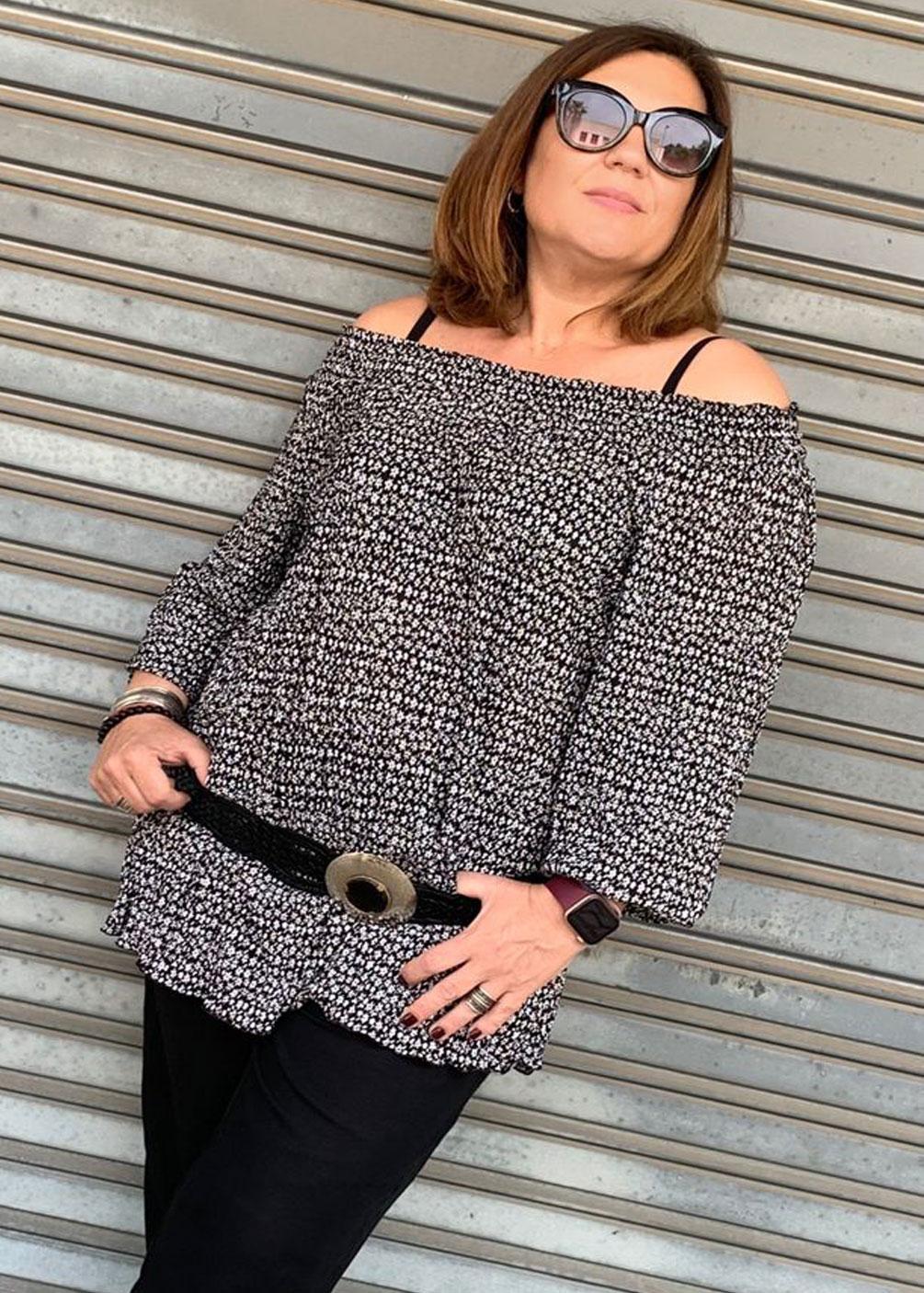 blusa mejicana hombros tallas grandes curvy ideal comoda fresquita