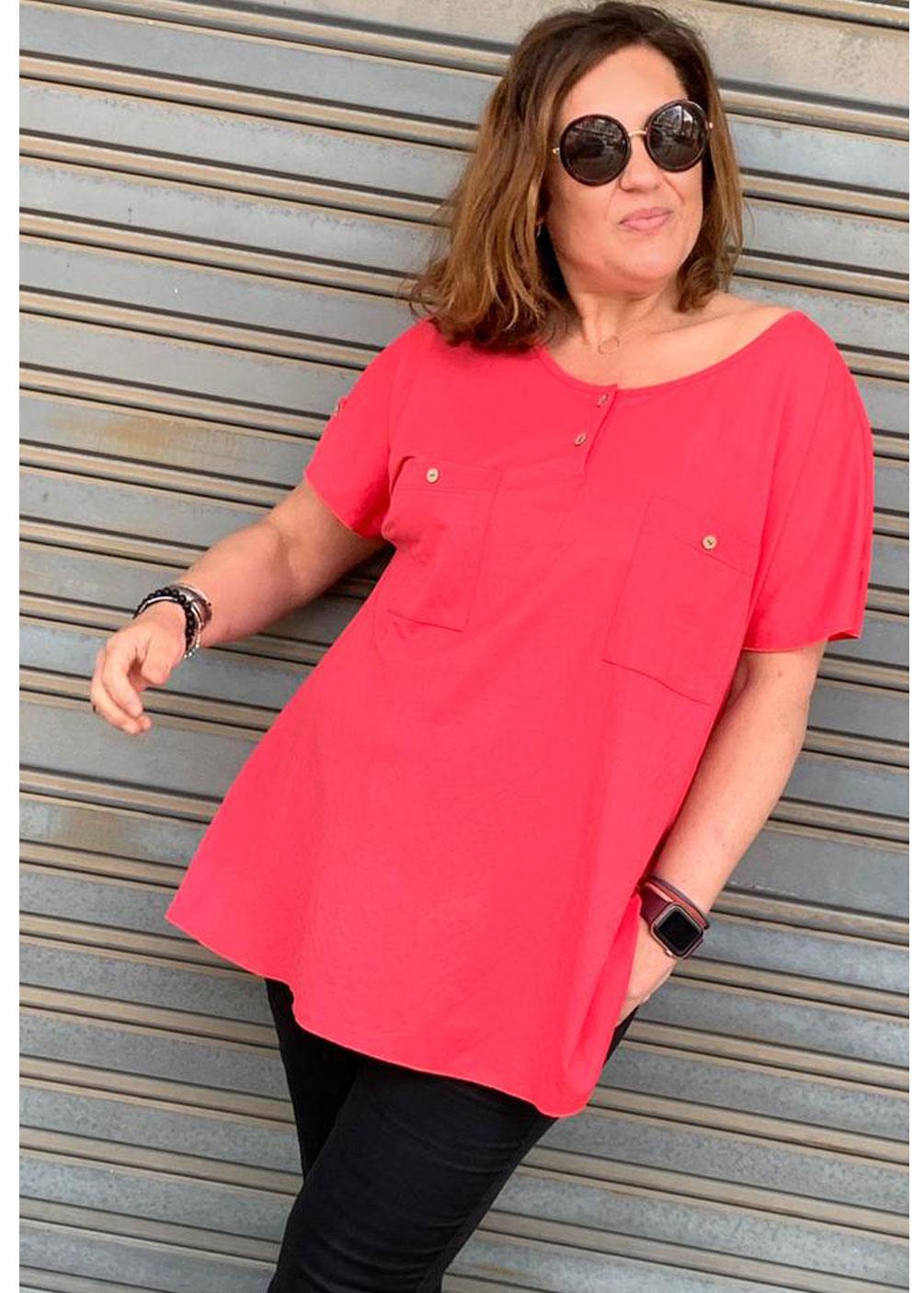 camiseta blusa tallas grandes indra verano 2021