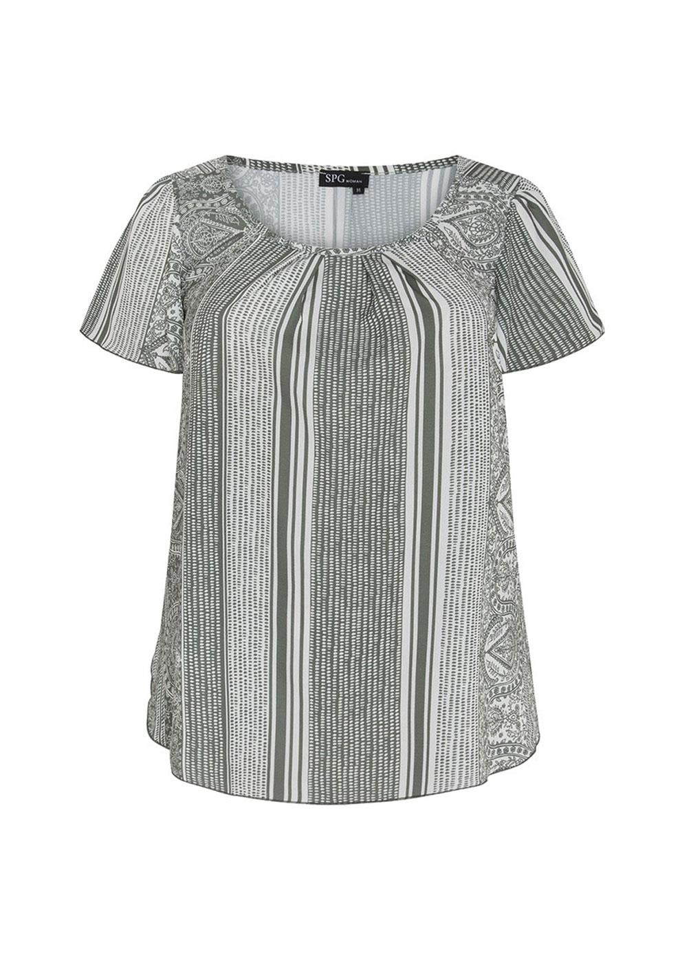 blusa estampada tallas grandes curvy verano look casual estilo