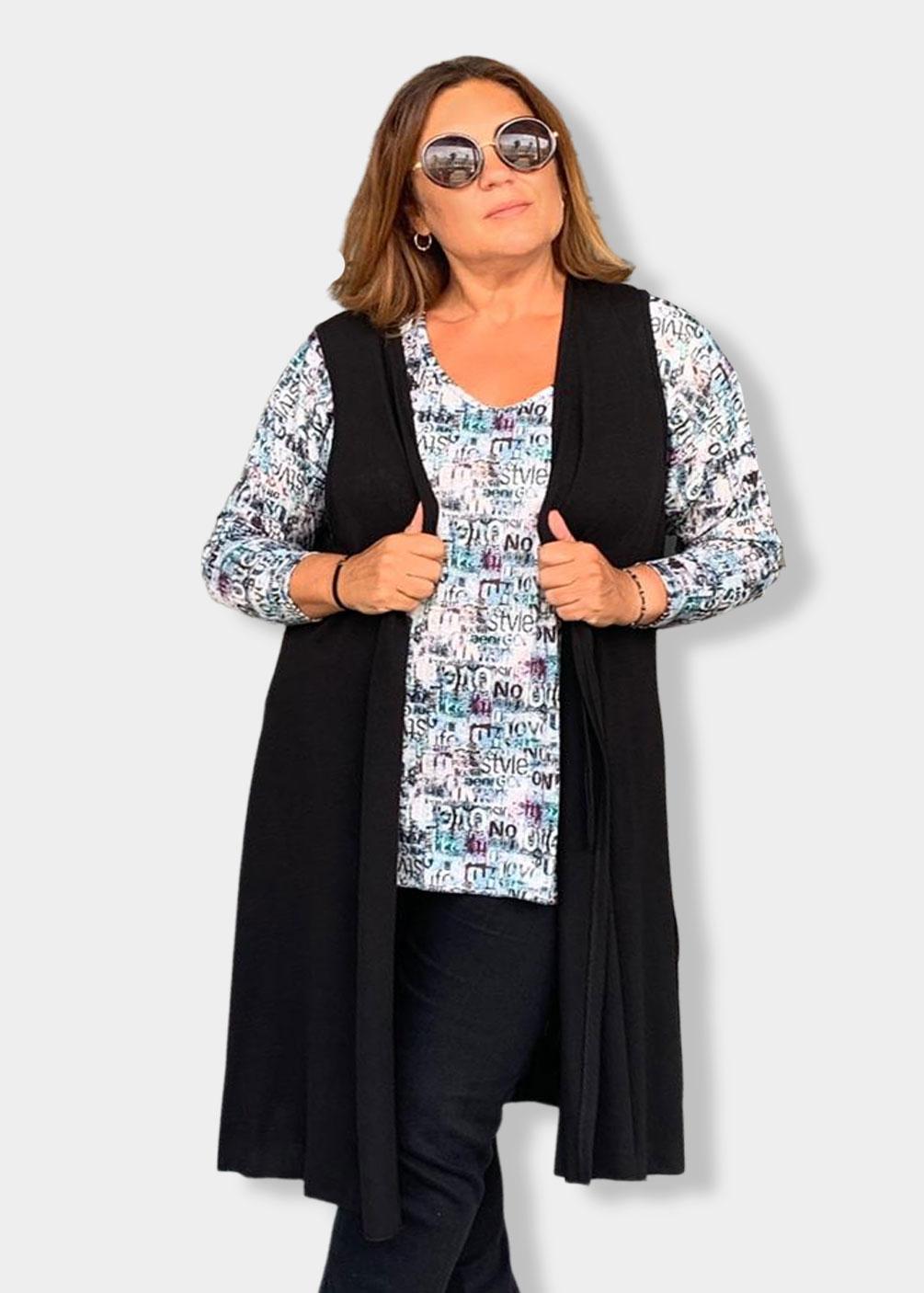 chaleco largo indra plus size curvy fashion tallas grandes