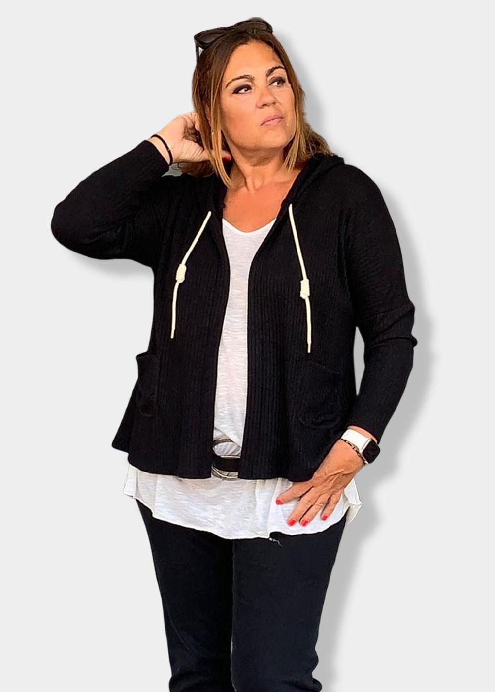 chaqueta sudadera tallas grandes plus size curvy